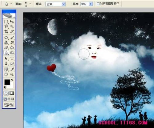 PS照片合成教程:卡通儿童形象白云 - 迎春 -