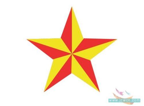 用路径画规则的五角星 - 迎春 -