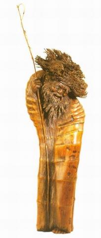 引用 竹雕艺术 - 傲霜腊梅 - 独自逍遥斜风细雨里悠然穿梭雾霭朦胧中