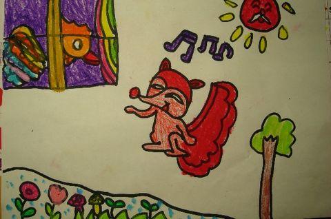金鸡绘画图片大全儿童
