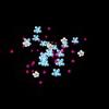 各种漂亮的飞花和上升背景素材透明flash效果
