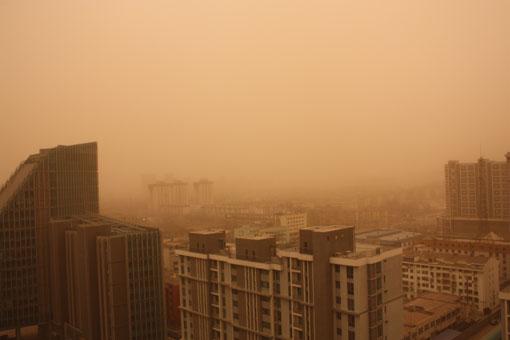 2010年的第一场沙尘暴:让国贸消失(图) - 徐铁人 - 徐铁人的博客