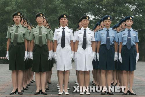 这是女军官夏常服.-2007新式军装样式全集图片