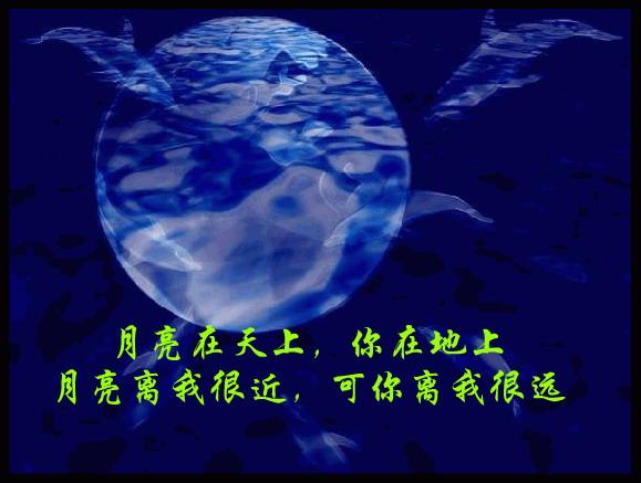 月亮在天上,你在地上