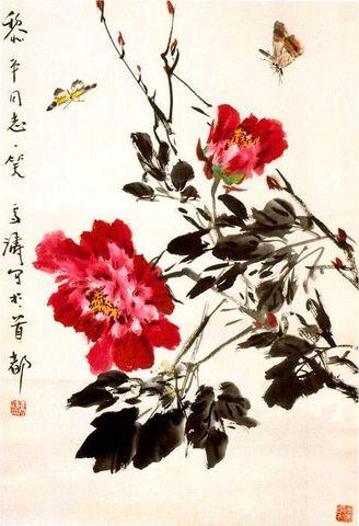 引用 引用 王雪涛牡丹画选集 - 梦华书苑 - mhsysh 的博客