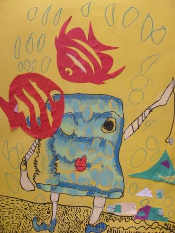 童话海绵纸贴画图片
