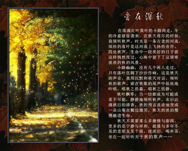 【天籁纯音】小提琴曲_爱在深秋 - 西门冷月 -                  .