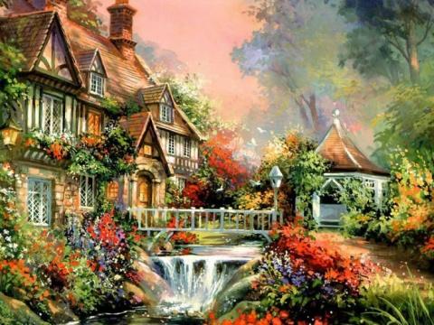 欧洲古典风景油画 往事随风 往事随风 高清图片