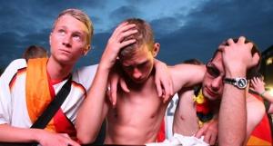 德国队输了 球迷伤心欲绝