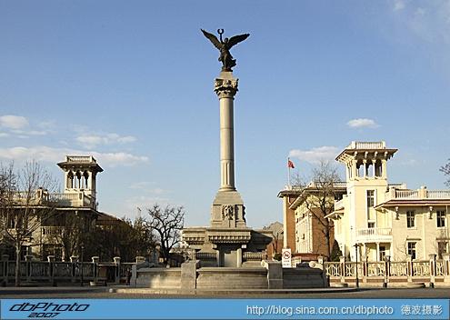 意式风情区马可波罗广场是天津市第一个全部恢复原有风格的欧式广场.图片