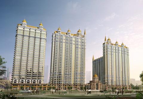 位于哈尔滨市道外区的荣耀上城项目是英式新古典主义建筑风格在高层图片