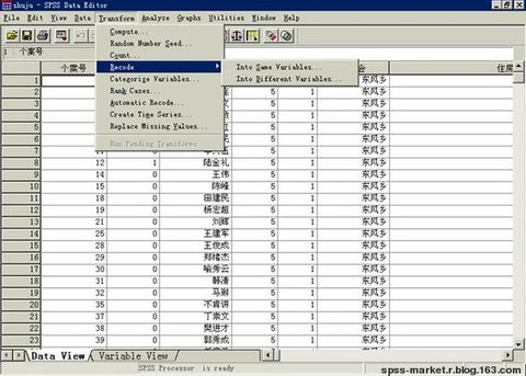 SPSS中Recode、Compute、Count、If命令 - Data Mining - 数据分析