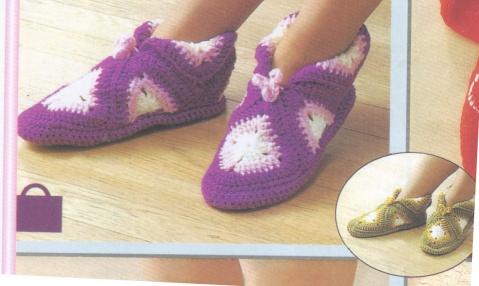 毛线编织的鞋子(2)------8块方块组成的鞋子 - 风前横笛手工网的日志 - 网易博客 - zxyxjm - zxyxjm的博客
