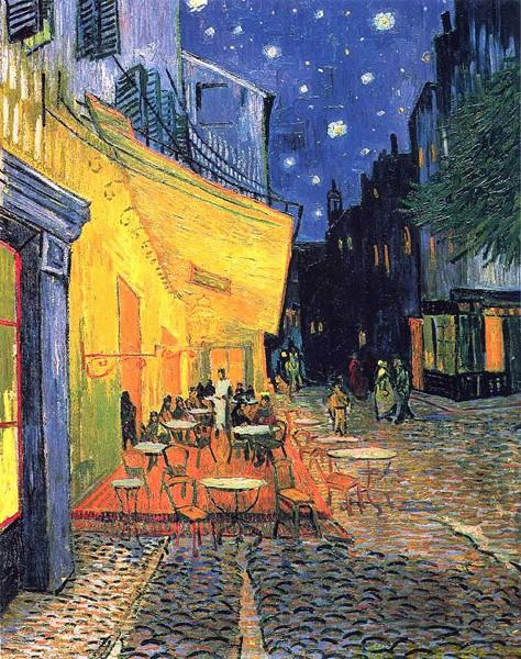 凡高《阿尔夜间的露天咖啡馆》