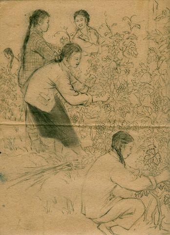 葡萄姑娘 - 於菟牧者 - 卓然書畫資料庫