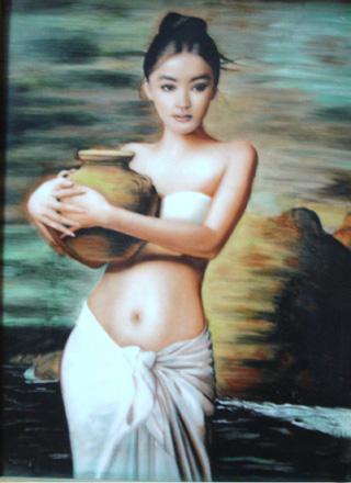 抱陶女:一幅画与100万次盗版 - 子水 - 子水的情爱生活
