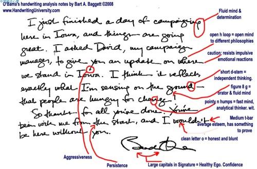 奥巴马笔迹分析:沥青与牛奶的混血总统 - 巫昂 - 巫昂智慧所