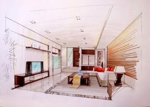 室内手绘图 - 小小熊格子廊的日志