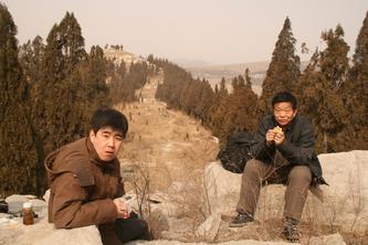 2008、2、23考察长清孝里乡黄崖寨