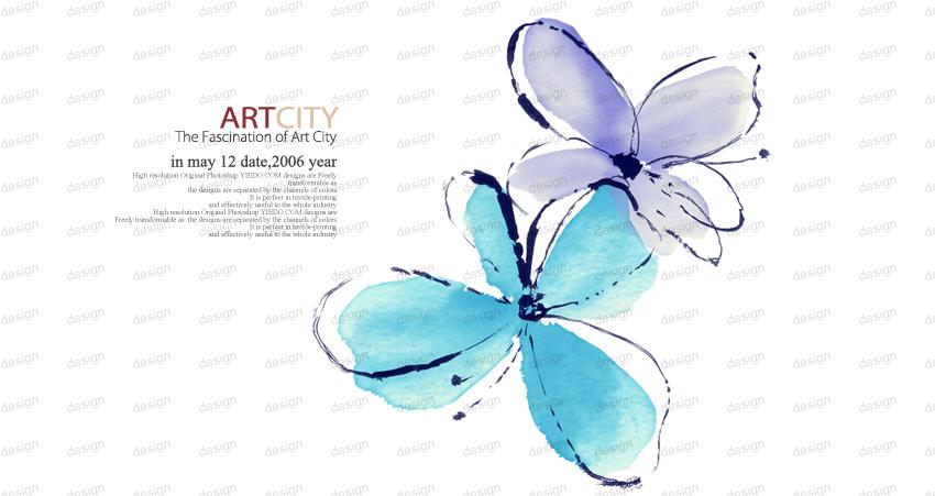 【PS教程】淡蓝手绘签__{某年某月某一天 - f12lian - 缘份的天空