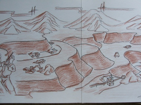 (原创)神华油库大门及壁画设计草图3 - 2008zhouwenbo - 周文波博客