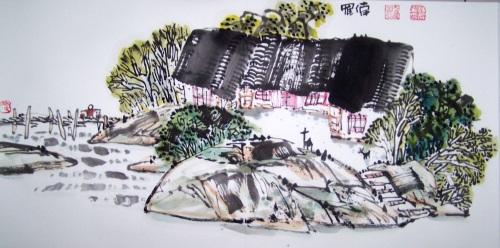 [原创国画]乡村记忆系列(三十四)2008/05/02书画家罗伟 - 书画家罗伟 - 书画家罗伟的博客