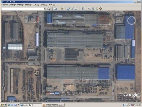 在卫星图片上看到的北方奔驰厂区 - 天王星 -           .