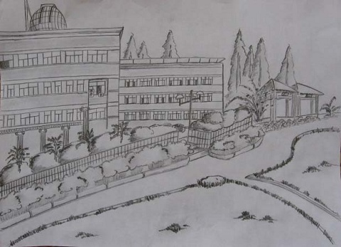 青春校园海报手绘