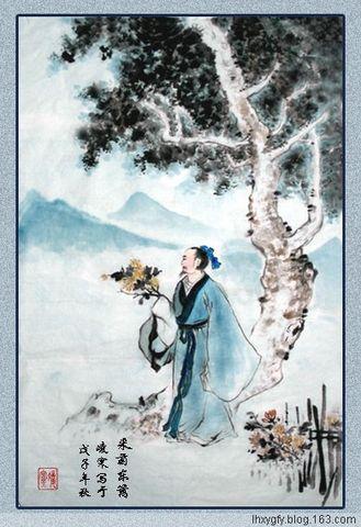 七律二首(原创) 采菊图和凌寒/寒泉先生11/19 - 古枫 - 古枫的博客