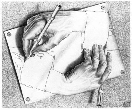 与版画系2007级同学谈数码图形图像处理摘要之二:埃舍尔的创意 - 好好阳光 - 辜居一的博客