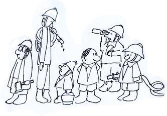 歌曲里的幽默--十个救火的少年(漫画)