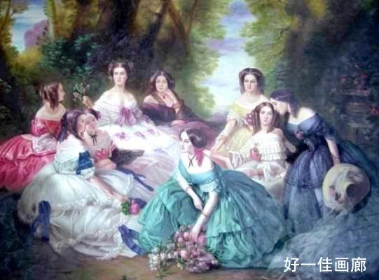高档古典人物油画——《贵妇们的聚会》