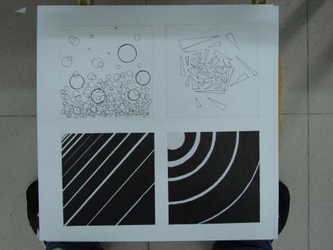 设计 肌理/点、线、面的构成设计//////点线面的构成不同的组形设计//////......