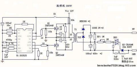 sg3525逆变器电路图