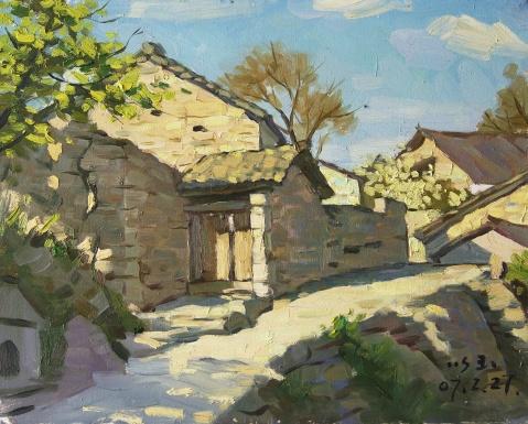 张以玉老师的几张风景油画写生欣赏 - 江振柏 - 水木白艺术空间