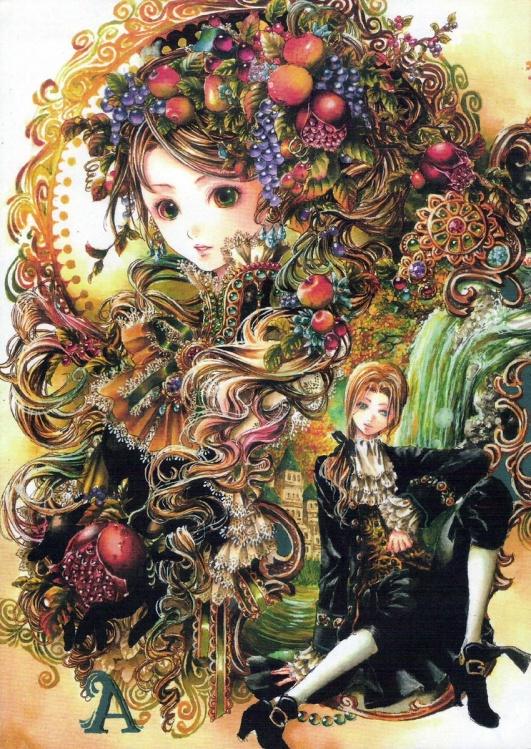 插画家图鉴·尚月地☆梦幻 奢华 水晶色=华丽的欧风图片