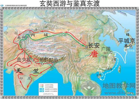 唐朝全盛时地图