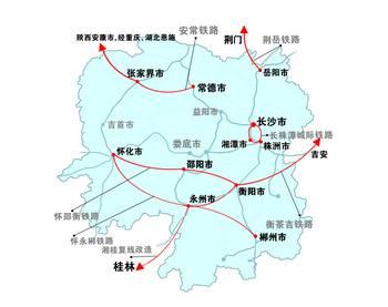 湖南铁路规划_湖南新建改造7条铁路示意图