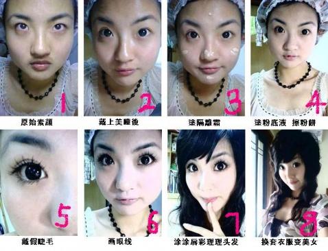 下面给女生看的详细化妆步骤当然也是转的