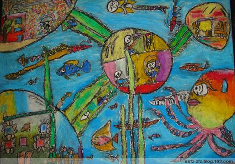 科幻画《未来的环保城市》