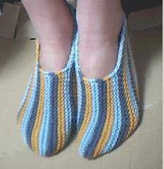 毛线编织的鞋 - 阿明的手工坊 - 千针万线