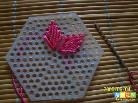 六角形塑料片钩的包包 - bird-sj - 夏天的云
