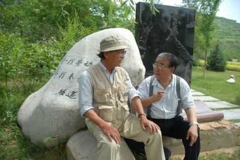 日本国研究路遥的学者安本实先生第十次访问延安