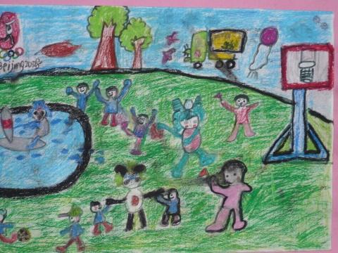奥运 促和谐 小学生书画作品展图片