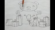 以纸面简洁线稿形式呈现少女心理的加拿大谢里丹学院学生作品
