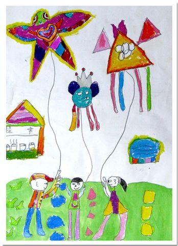 少年班 放风筝图片
