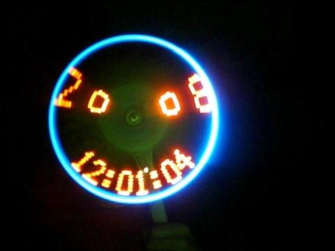 旋转LED时钟(数字版) - 耳朵 - 耳朵的博客