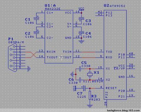 9针rs485串口接线图