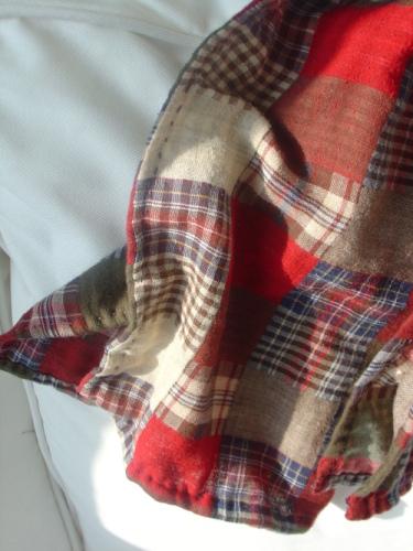 巫手工冬日版:作旧感双层棉苏格兰格子围巾(正红) - 巫昂 - 巫昂智慧所