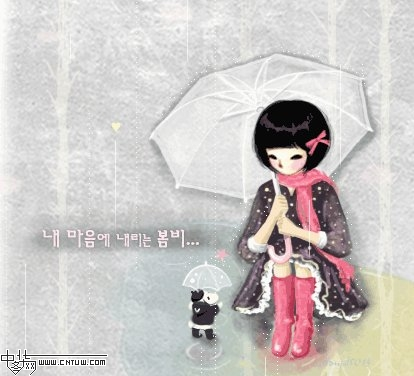 超漂亮的韩国动态插画美图(可作博客底图) - 理睬 - .
